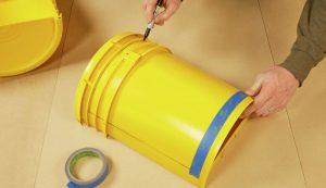 DIY 5-gallon bucket cold frame frames