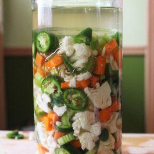 giardiniera fermented cauliflower