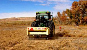 broadcast seeder tractor