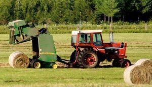 hay baler tractor