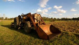 front-end loader tractor farm equipment