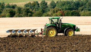 plow tractor farm equipment