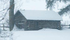 snowstorm barn