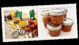 peppers peach jam