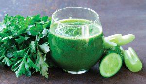 parsley herbs smoothie