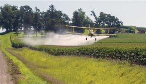 plane chemicals overspray