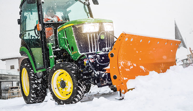 snow removal tractor blade