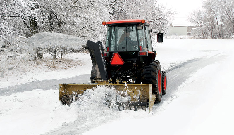 snow removal tractor snowblower