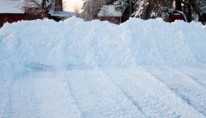 clear snow with a front-end loader