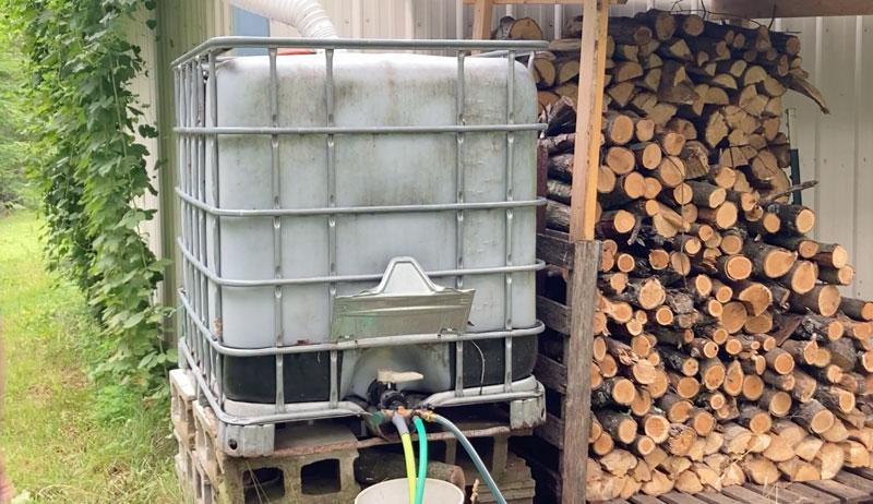 rain barrel drip line irrigation
