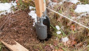 replacing wooden fence posts