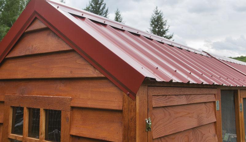 chicken coop design siding roof