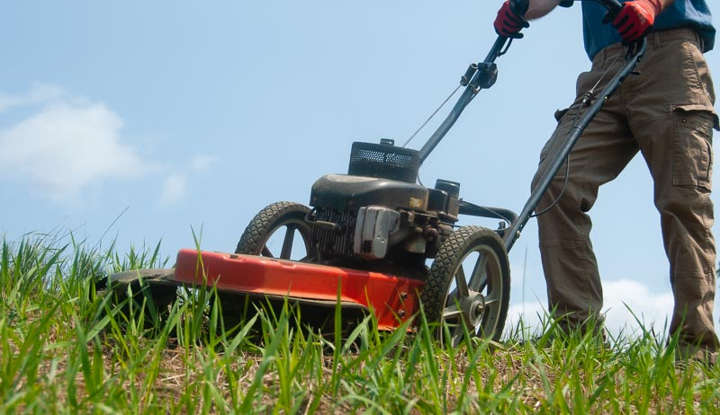 mowing slopes sloping ground pastures