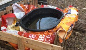 passive solar stock water tank