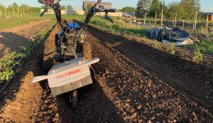 rotary plow attachment walk-behind tractor