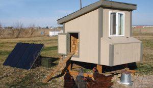 solar-powered chicken coop