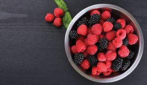 blackberries and raspberries bowl grow farm hobby