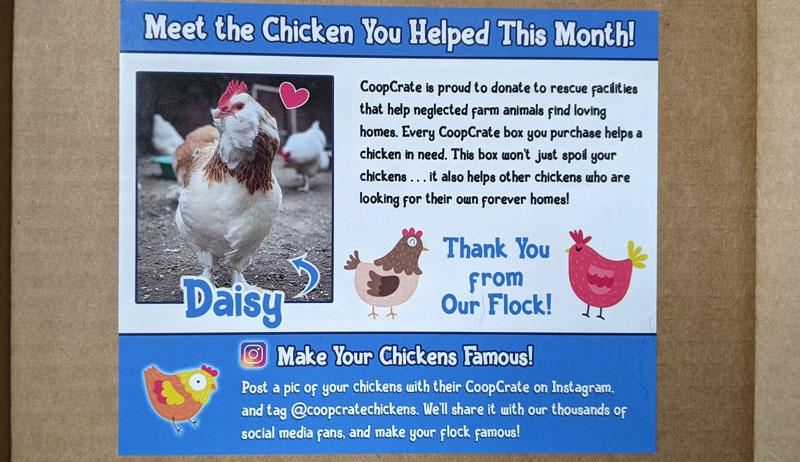 CoopCrate chicken treats chickens