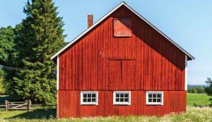 gable style homestead barn