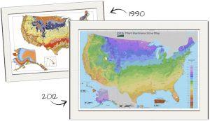 Hardiness zones gardening climate change