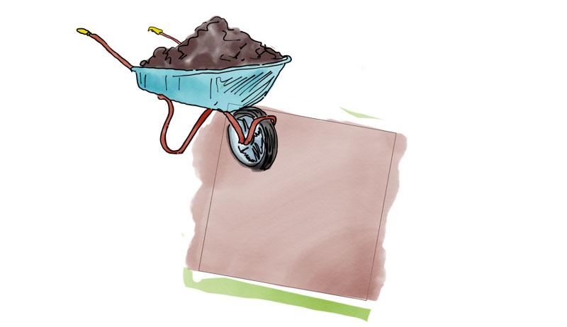 healthy soil illustration
