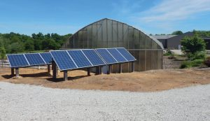 off-grid off-the-grid greenhouse homestead solar panels