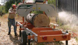 portable sawmill lumber oak milling
