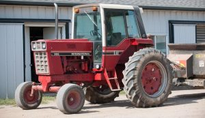 red tractor cab