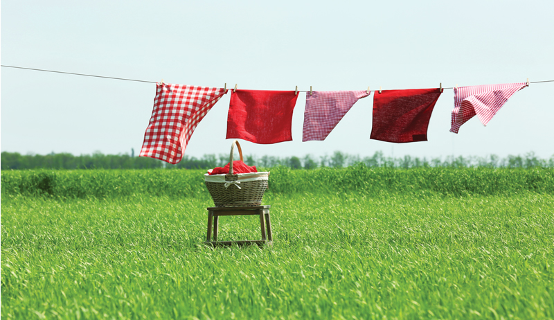 clothesline line-dry line-drying laundry