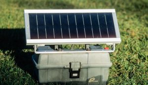 Solar fence chargers