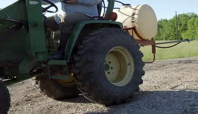 farm sprayer calibration garden fields field