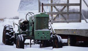 tractor snow farm winter