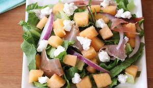 Crenshaw melon salad