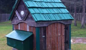chicken coop, upcycled, playhouse swing set