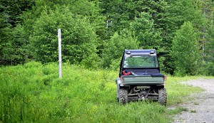 Off-Road Vehicle at Trail Junction