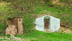 root cellar in the ground