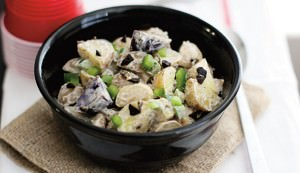 potato salad with black garlic