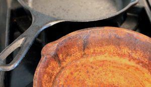 cast iron rust clean