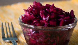 red cabbage tarragon sauerkraut recipe