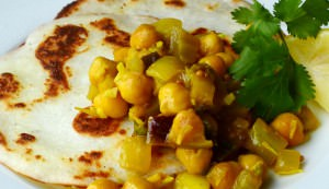 dosa and chickpeas