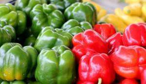 bell peppers, farmers market