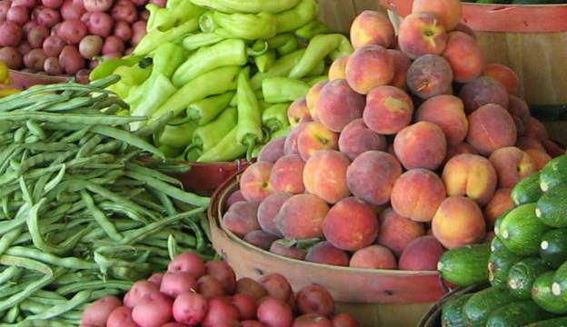 farmers market, fruit, vegetables