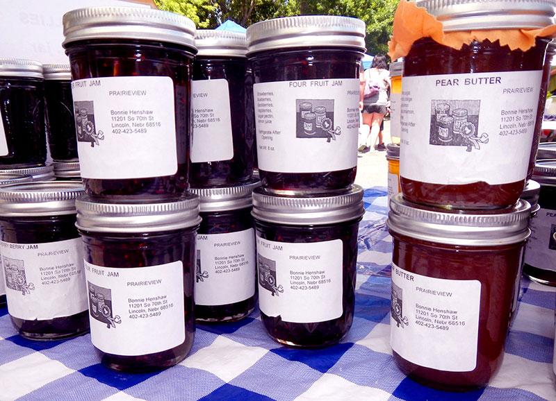 jams pear butter farmers market
