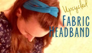 upcycled fabric headband