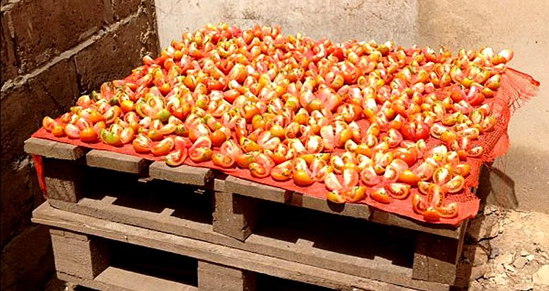 sun drying food