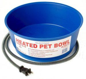 chicken waterer water winter freezing heated pet bowl dish