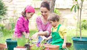 kids and container gardening