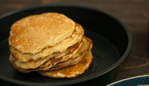 corn cakes with pickles