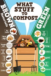 brown green compost