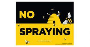 No Spraying sign